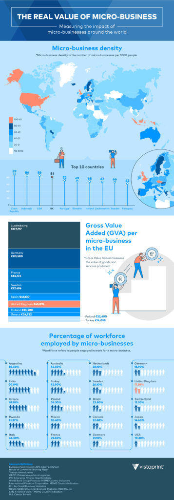 the value of micro business infographic