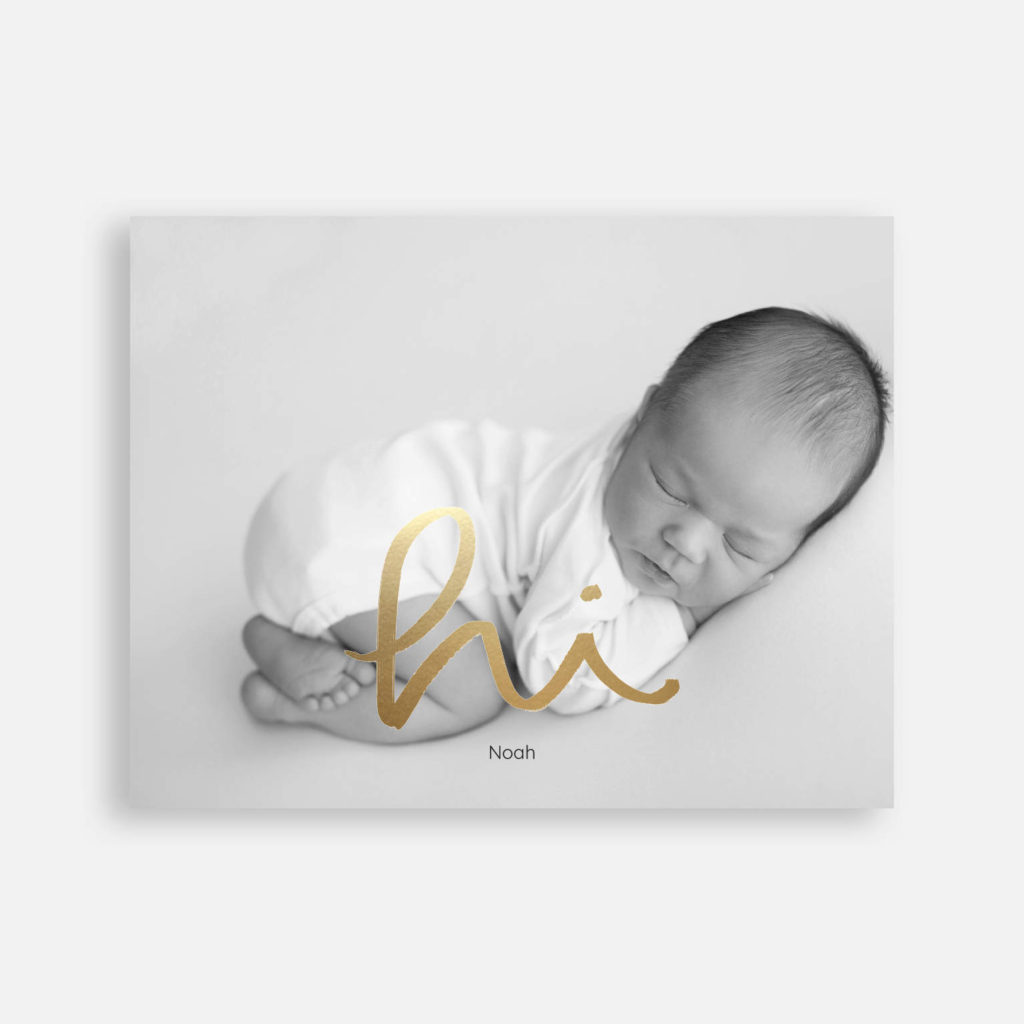 photo baby announcement idea in black and white