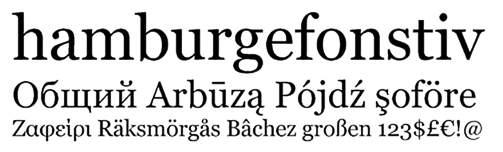 easy to read font: georgia
