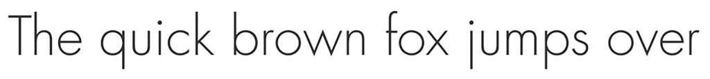 easy to read font: futura