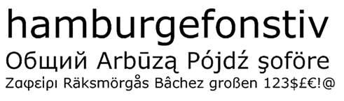 easy to read font: verdana